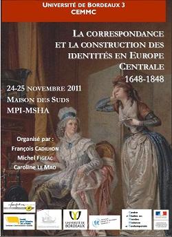 La correspondance et la construction des identités en Europe centrale, 1648-1848