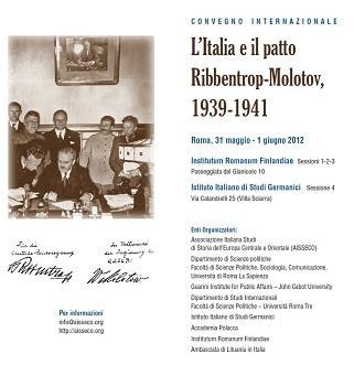 L'Italia e il patto Ribbentrop-Molotov, 1939-1941