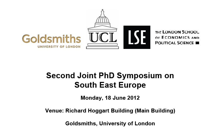 Second Joint PhD Symposium on South East Europe