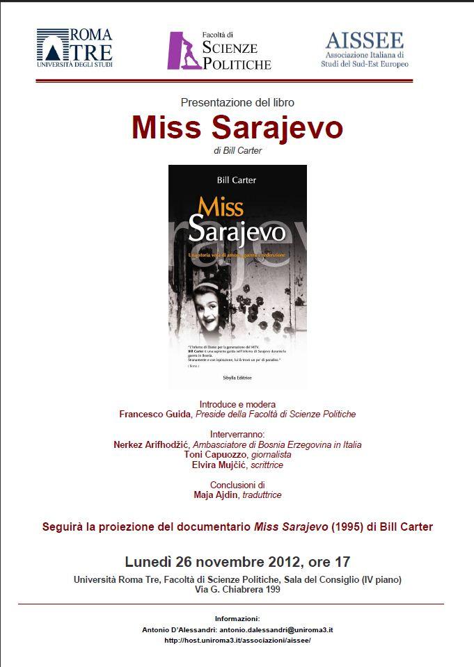 Presentazione del libro Miss Sarajevo