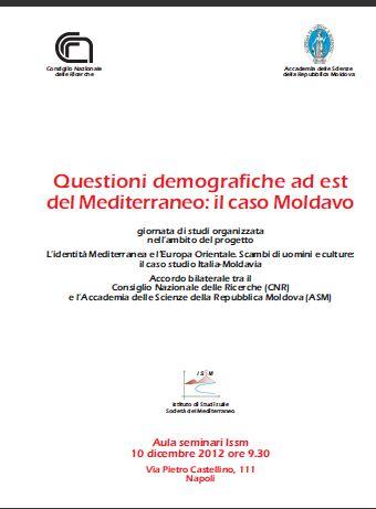 Questioni demografiche a est del Mediterraneo: il caso Moldavo
