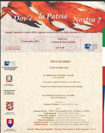 Dov'è la Patria Nostra. Luoghi, memorie e storie della Legione Ceco-slovacca in Italia durante la Grande Guerra