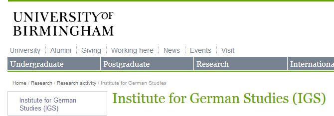 CfP: The GDR today