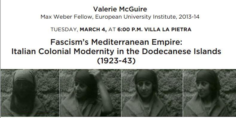 Lecture: Fascism's Mediterranean Empire