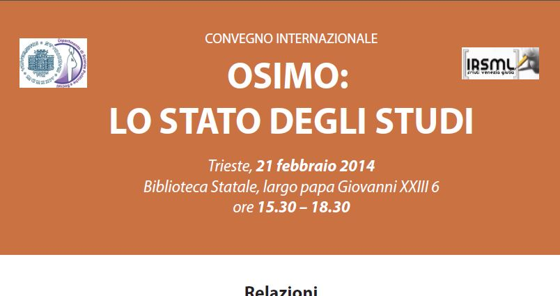 OSIMO: LO STATO DEGLI STUDI