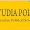 CfP: Studia Politica