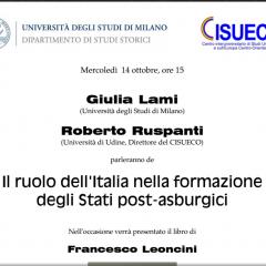 Il ruolo dell'Italia nella formazione degli Stati post-asburgici