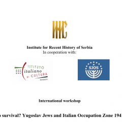 Paths to survival? Yugoslav Jews and Italian Occupation Zone 1941-1943