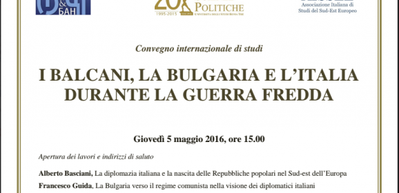 I BALCANI, LA BULGARIA E L'ITALIA
