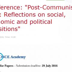 CfP: Post-Communism 25+