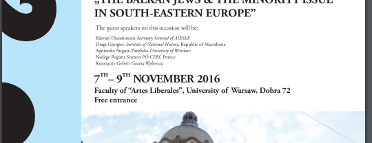 """""""The Balkan Jews & the Minority Issue in South-Eastern Europe"""""""