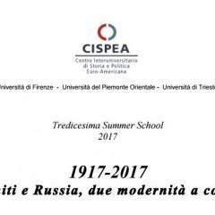 CfP: 1917-2017 Stati Uniti e Russia, due modernità a confronto