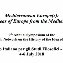 CfP: Mediterranean Europe(s): Images and Ideas ofEurope from the Mediterranean Shores