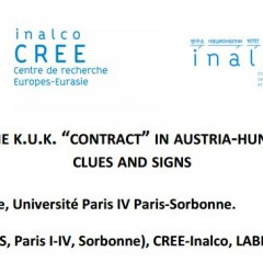 "CfP: T H E BREAK-UP OF THE K.U.K.	""CONTRACT""	 IN AUSTRIA-HUNGARY DURING WWI:CLUES AND SIGNS"