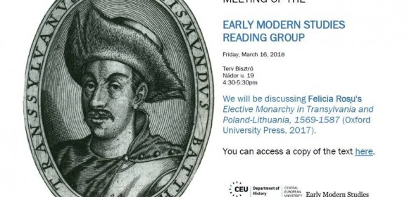Discussione su libro al Dipartimento di Storia della Central European University