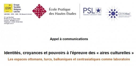 CfP: Identités, croyances et pouvoirs à l'épreuve des  aires culturelles