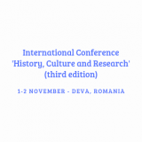 CfP: International Conference History, Culture and Research