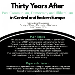 CfP: Thirty Years After – Post Communism, Democracy and Illiberalism in Central and Eastern Europe