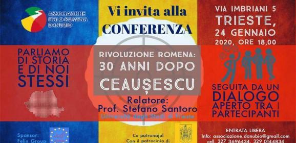 """Conferenza """"Rivoluzione romena: 30 anni dopo Ceauşescu"""""""