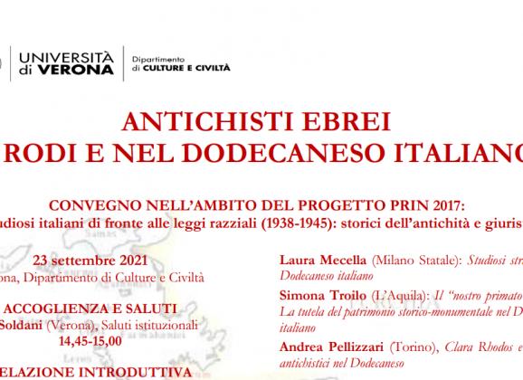 ANTICHISTI EBREI A RODI E NEL DODECANESO ITALIANO